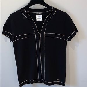 CHANEL top short sleeves